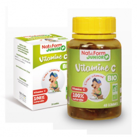 Vitamine C Bio - 48 oursons - Nat & Form Junior +