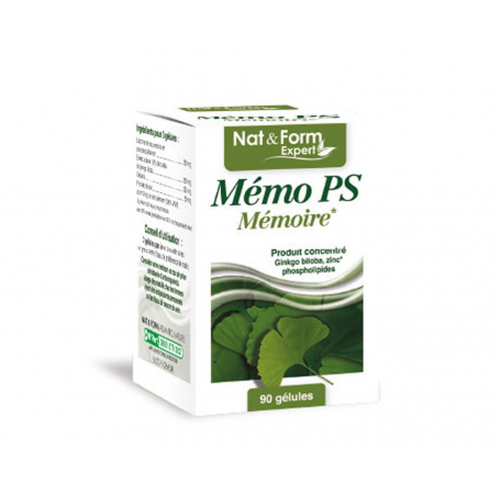 Mémo PS  - Mémoire (Ginkgo biloba, Zinc, Phospholipides)