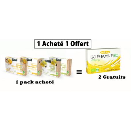 Un Pack ampoule Acheté - 2 boites  Bio Offerte